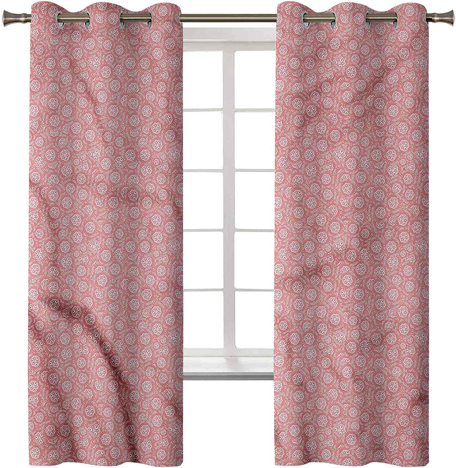 Blackout Curtains Max 69% OFF Thermal Insulated Flora Limited time trial price Drapes Reducing Noise