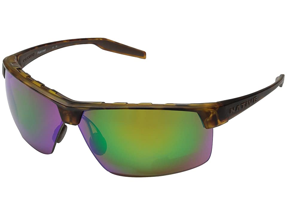 Native Eyewear Hardtop Ultra XP (Desert Tort/Green Reflex) Sport Sunglasses