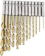 Ashley GAO 13 st/set rostfritt stål hållbart sexkantsborrset multibits verktyg 1,5–6,5 mm DIY HSS borrbit hemhantverk till...