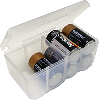 Dial Industries Battery Organizer Case, Clear, 8 D