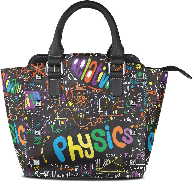 My Little Nest Women's Top Handle Satchel Handbag Physical Math Formulas On Blackboard Ladies PU Leather Shoulder Bag Crossbody Bag
