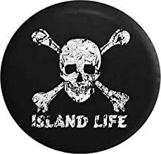 Spare Tire Cover Pirate Life Skull & Crossbones Saltwater Edition (Fits: Jeep Wrangler Accessories, Camper, RV Accessories) Size 32 Inch