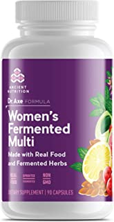 Ancient Nutrition Women's Multivitamin Supplement, Made with Real Food and Fermented Herbs, Hormonal Health, Energy, Diges...