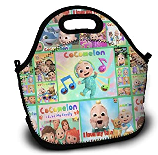 Cocomelon Kids Leakproof Insulated Lunch Bag, Nursery Rhymes Reusable Lunch Tote Bags for Women Men, Portable Large Capaci...