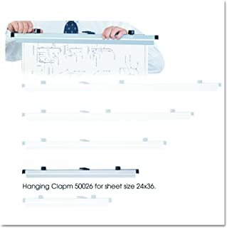 """Safco Products 50026 24"""" Hanging Clamps for 24"""" x 36"""" Sheets, Gray, Set of 6"""