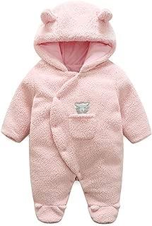BANGELY Newborn Baby Winter Thicken Cartoon Sheep Snowsuit Warm Fleece Hoodie Romper