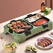 RTYUI Pot Multifonctionnel pour Barbecue, Double Pot, Antiadhésif Tout Puissant Cuisinière Électrique Multifonctionnel san...