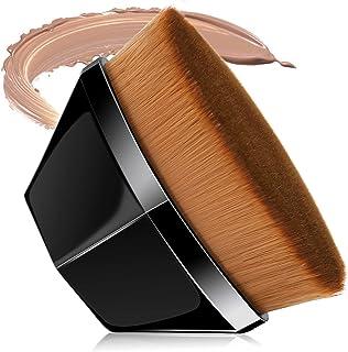 Alliebe Foundation Makeup Brush Flat Top Kabuki Hexagon Face Blush Liquid Powder Foundation Brush Suitable for Blending Liquid, Cream or Flawless Powder Cosmetics with Bonus Protective Case (Black)