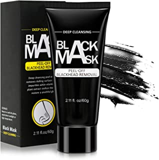 Niuta Blackhead Remover Mask, Peel Off Blackhead Mask - Deep Cleansing Black Mask, Bamboo Activated Charcoal Peel-Off Mask (60 g)