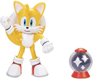"Sonic The Hedgehog 4"" Modern Tails Action Figure with Invincible Item Box Accessory"