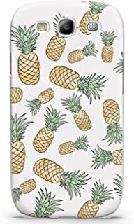 Inspired Cases - 3D Textured Galaxy S3 Case - Protective Phone Cover - Rubber Bumper Cover - Case for Samsung Galaxy S3 - Pineapple Pattern Case