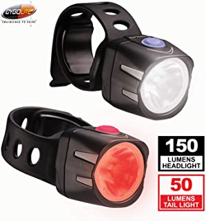 Cygolite Dice HL 150 Lumen Headlight & Dice TL 50 Lumen Tail Light USB Rechargeable Bicycle Light Combo Set