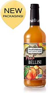 Powell & Mahoney Craft Cocktail Mixers Peach Bellini, 25.36 FL OZ, Pack of 1