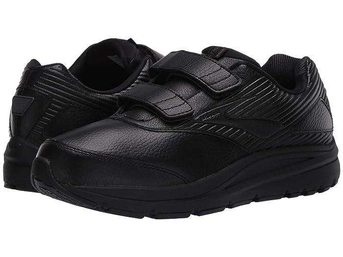 Brooks  Addiction Walker V-Strap (Black/Black) Womens Walking Shoes