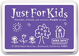 Hero Arts Just For Kids CS104 Washable Ink Pad for Rubber Stamps - Purple