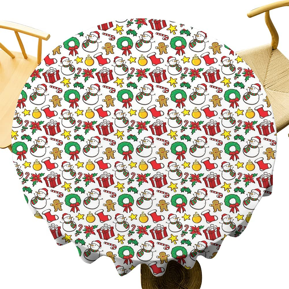 Christmas Table Cloth - Multi-Pattern Year-end Japan Maker New gift Inch 67 Round