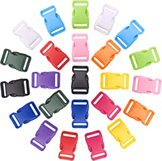PH Pandahall 48pcs 12 Colors Side Quick Release Buckles, 1 Inch Colorful Buckles Plastic Buckle Clips for DIY Making Lugga...