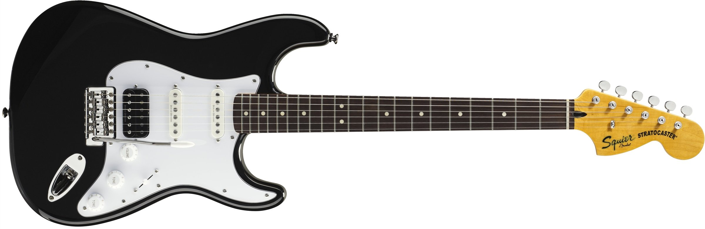 Cheap Squier by Fender Vintage Modified Stratocaster Electric Guitar HSS - Black - Rosewood Fingerboard Black Friday & Cyber Monday 2019