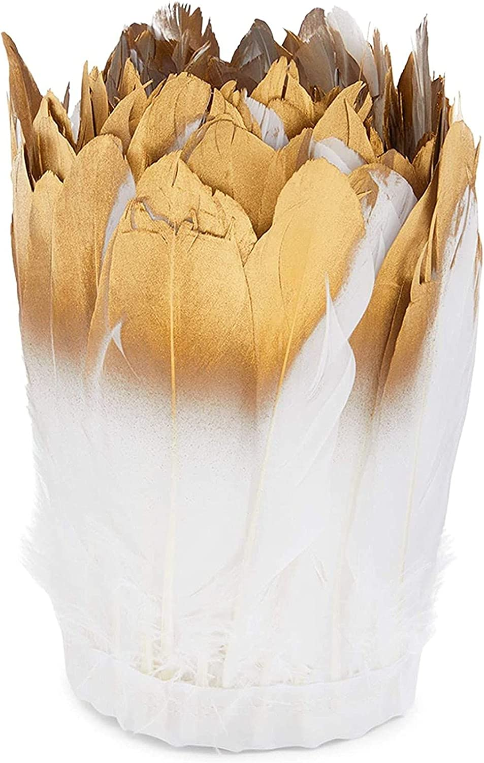 White and Gold Goose Feathers Decorations for Costumes Super-cheap Crafts Fashion