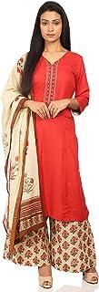 BIBA Women's Blue Viscose Salwar Kameez Dupatta