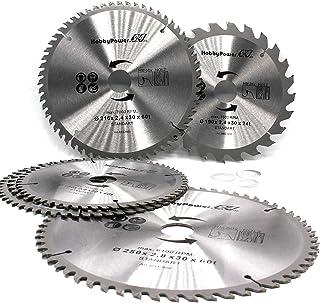 Cirkelsågblad 216 x 30 60 Z tänder 3 reduceringsringar till 24,4 mm, 20 mm och 16 mm universal sågblad för trä cirkelsåg ö...