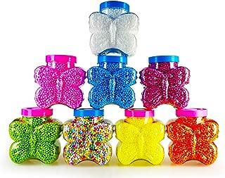 8 Color Jars Styrofoam Foam Beads for Homemade Slime 10 Cups in Size Styrofoam Balls Polystyrene DIY Gift Slime Supplies