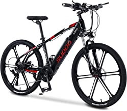 """SUDOO 26"""" Electric Bike for Adults, Aluminum Electric Mountain Bicycle with Rear Carrier Rack, 36V 13Ah Removable Battery,..."""