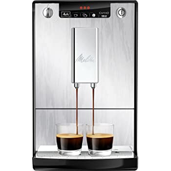 Melitta Caffeo Solo E950-111 Schlanker Kaffeevollautomat mit Vorbrühfunktion | 15 Bar | LED-Display | höhenverstellbarer Kaffeeauslauf | Herausnehmbare Brühgruppe | Organic Silver in Alu-Holz Optik: Amazon.es: Hogar