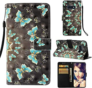 Galaxy S10E Case, UZER 3D Series Premium PU Leather Shockproof Kick Stand Function Flip Wallet Case with Card Holder ID Slot Money Pocket Durable Magnetic Book Case for Samsung Galaxy S10E 5.8