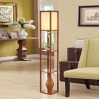 Lampadaire Simple Chinois Salon canapé Lampe lampadaire Chambre Lampe de Chevet étagère étagère Fleur personnalité créativ...