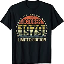 Born October 1979 Limited Edition Bday Gifts 40th Birthday T-Shirt