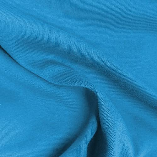 a7b6cac6949 Azure Cotton Lycra Jersey Knit Fabric Combed 10oz by the Yard Cotton Stretch  Jersey Knit by
