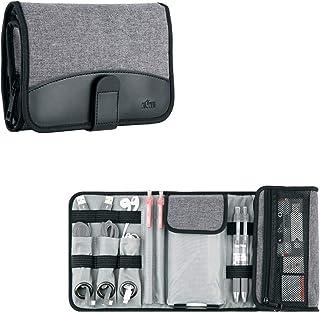 Kiwifotos Universal reseprylar med hög kapacitet organiseringsväska för elektroniska tillbehör smartphone, powerbank, mobi...