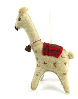Silk Road Bazaar Felt Llama Ornament
