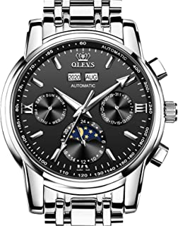 OLEVS Mens Stainless Steel Metal Automatic Watch