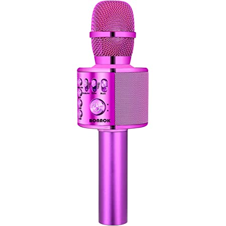 Or Rose Microphone Karaok/é Bluetooth pour Chanter Enfants Micro Bluetooth 5 en 1 Portable Lecteur Karaok/é avec Lumi/ères LED KIDWILL Microphone sans Fil Karaok/é Remix R/églable Radio FM