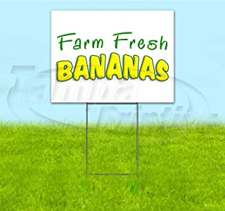 Farm Fresh Bananas Corrugated Plastic Yard Sign, Bandit, Lawn, Decorations, New, Advertising, USA (18