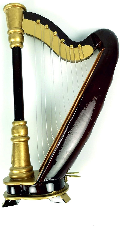 ALANO Mini arpa con caja de regalo, instrumento musical decorativo (H-14)