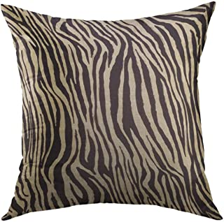 Grey /& Cream Throw Pillow Decorative Pillow Cover Linen Zebra Print Animal Print Zebra Print Pillow Cover