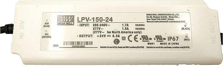 LPV-150-24 Mean Well LED POWER SUPPLY 24V 6.3A 151.2W