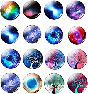 90Pcs 16mm Glass Dome Cabochons Printed Half Round Gems for Jewelry Making Handcrafts DIY Findings No.1