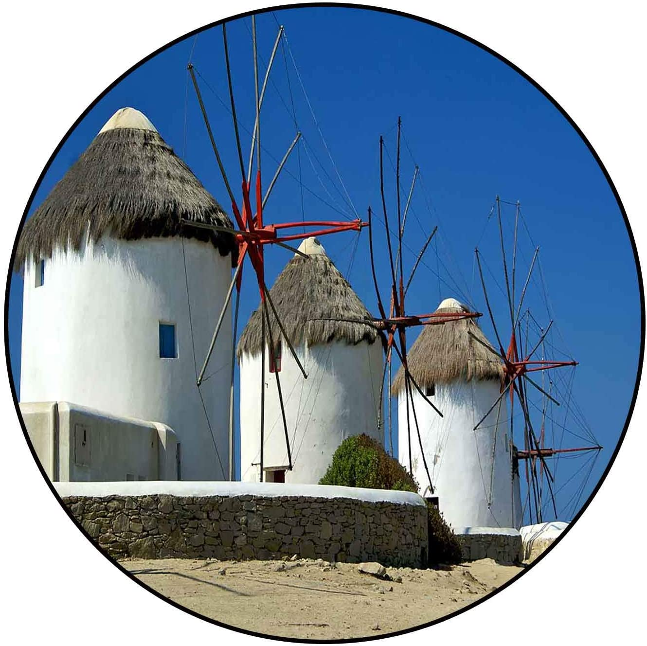 excellence Protective Cushioning Rug Pad Windmills on Fixed price for sale Greece Mykonos Indoor