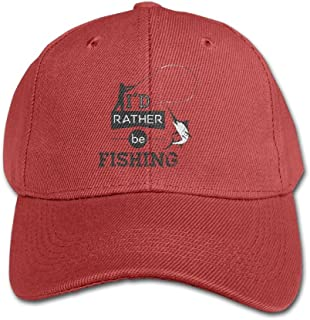 Elephant AN I'd Rather Be Fishing Pure Color Baseball Cap Cotton Adjustable Kid Boys Girls Hat