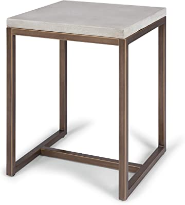Geometric White End Table by Home Styles
