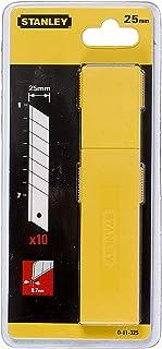 Stanley 0-11-325 Lame De Cutter 25 Mm Distributeur 10 Lames - Lame En Acier - Épaisseur Renforcée 1Mm - Distributeur Avec ...