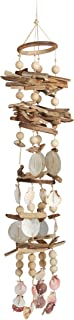 driftwood and shell mobiles