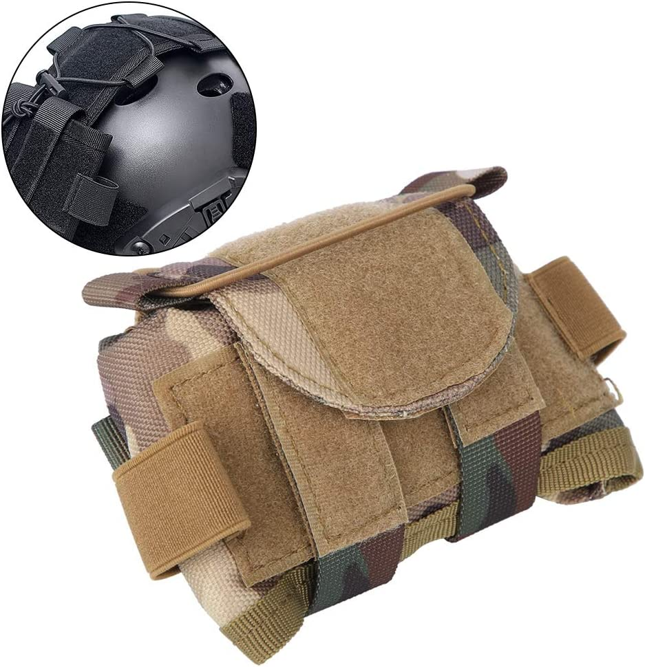 Black SOONHUA Helmet Counterweight Battery Storage Pouch Multi-functional Bag for Helmet Accessories