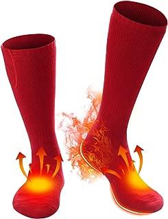 Daintymuse Battery Heated Socks for Men Women,Rechargeable Heating Socks Electric Ski Hunting Socks Motorcycle Heated Socks Outdoor Thermal Stockings,Foot Warmers Camping Heat Socks Winter Socks