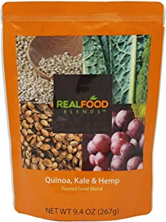 Real Food Blends Tube Feeding Formula 9.4 oz. Pouch Ready to Use Quinoa/Kale/Hemp Adult/Child, 49748 - Case of 12