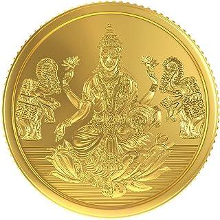 Joyalukkas 22k (916) 4 gm BIS Hallmarked Yellow Gold Precious Coin with Lord Lakshmi Design